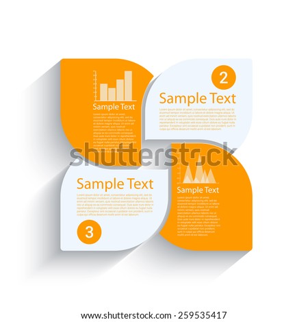 Business steps template for your design  - stock vector
