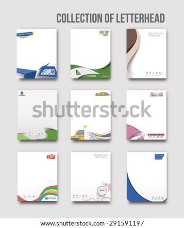 Business Style Corporate Identity Letterhead Template.  - stock vector