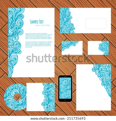 Business style template, vector illustration - stock vector