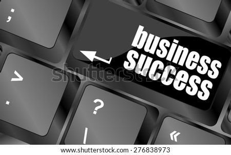 business success button on computer keyboard key vector - stock vector