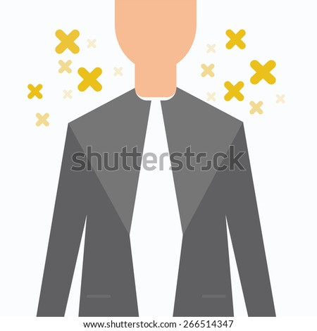 Business suit background - stock vector