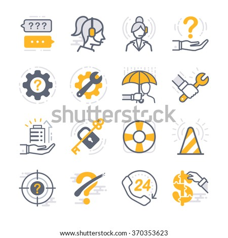 Business Support icons - stock vector