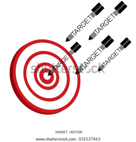 Business target marketing concept. Vector. - stock vector