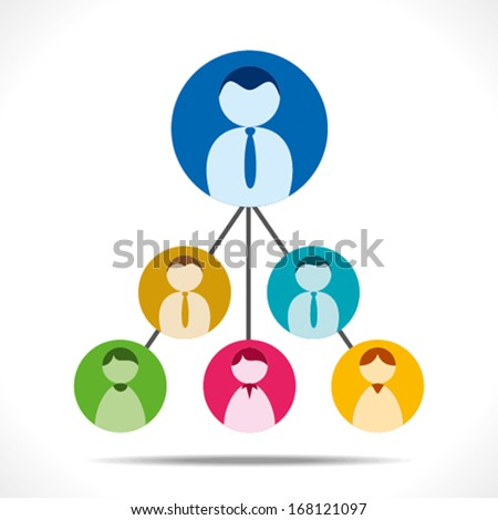 business team hierarchy background vector - stock vector