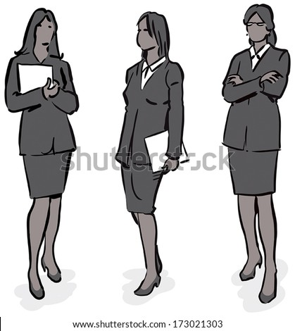 Business team series - stock vector