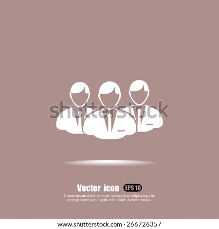 business team  vector icon - stock vector