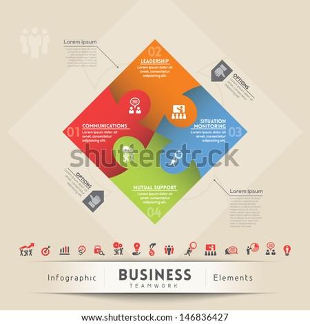 Business Teamwork Concept Illustration  - stock vector