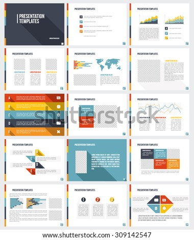 Business Template brochure flyer design Set Presentation - stock vector