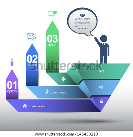 Business template. can use for business concept, planing, diagram, brochure object, printing, website, - stock vector