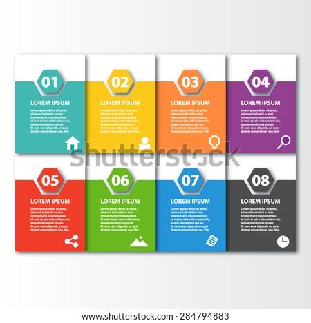 Business Template infographic element presentation brochure flyer design  - stock vector