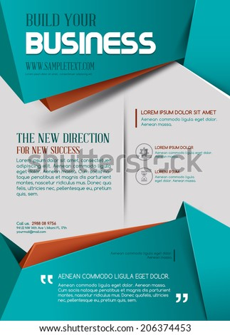 Business template. Poster. Vector Business Flyer. For your business - stock vector