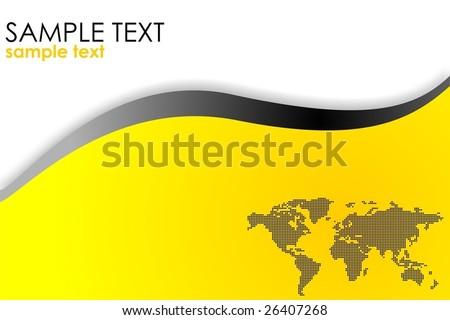 Business template yellow VECTOR - stock vector