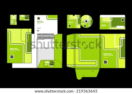 Business templates  - stock vector
