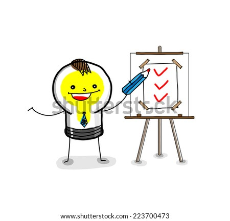 Business: The Business Report. - stock vector
