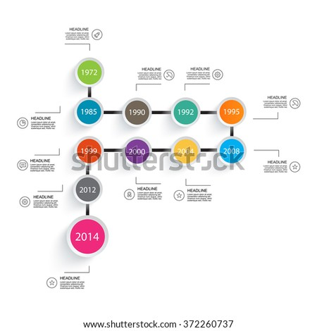 Business timeline element for Infographic. Easy to use for your business projects templates for presentation and training. - stock vector