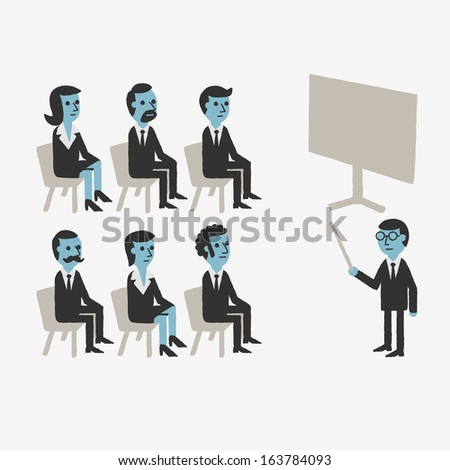 Business Training - stock vector