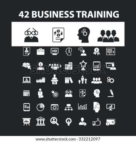 business training icons, signs vector set for mobile, website, infographics  - stock vector