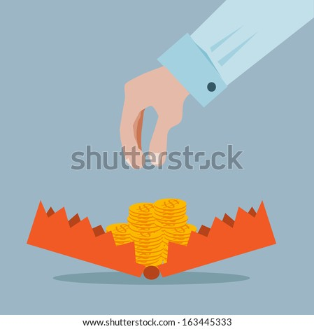 business trap - stock vector