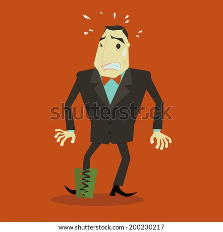 Business Trap. - stock vector