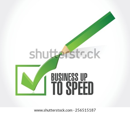 business up to speed check list illustration design over a white background - stock vector