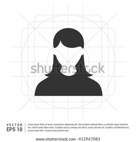 Business User Icon. Users Group Icon. Female user icon. user icon - stock vector