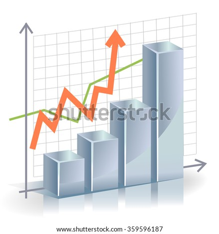 Business vector Graph - stock vector