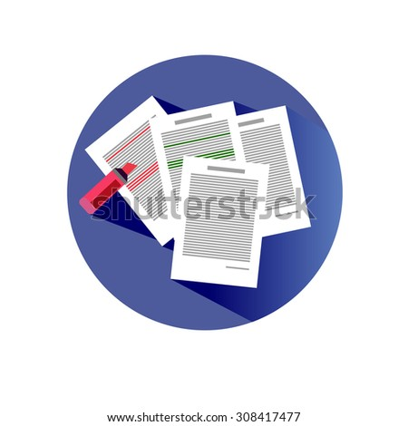business vector icon office work marker line - stock vector
