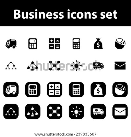 Business vector icons set - stock vector