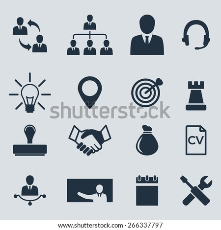 Business vector icons set. - stock vector