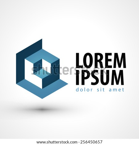 business vector logo design template. technology or company icon. - stock vector