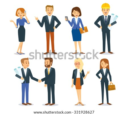 business vector people - stock vector
