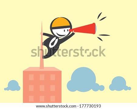 business vision - stock vector