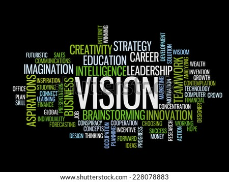 business vision concept word cloud - stock vector