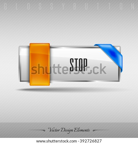 Business web button for website or app. Vector design element. - stock vector