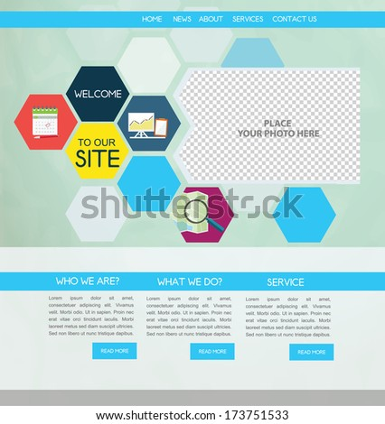 Business Web design - stock vector