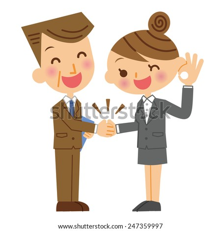 Business Woman handshake - stock vector
