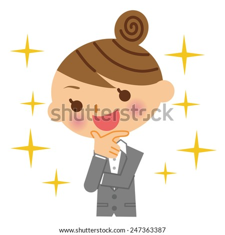 Business Woman Success - stock vector