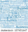 Business words seamless vector pattern - stock vector