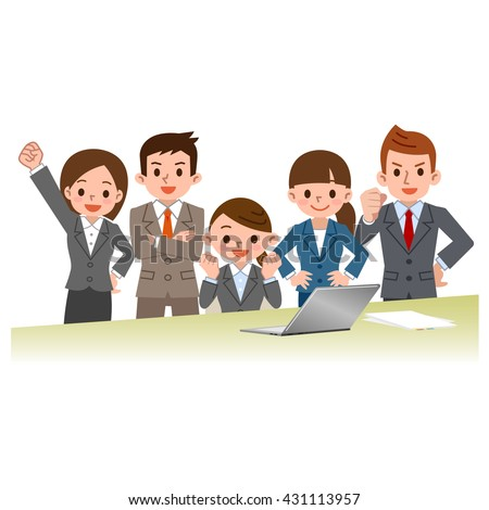 Businessman and career woman - stock vector