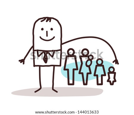 businessman and life insurance - stock vector