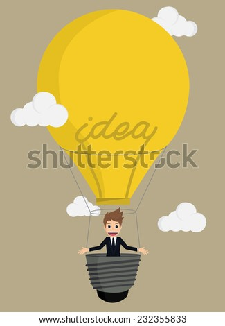 Businessman Balloon Ideas.vector - stock vector