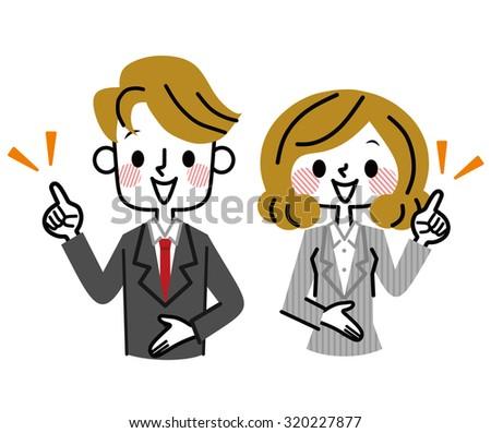 Businessman?Businesswoman - stock vector
