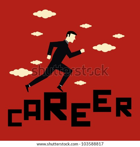 businessman career - stock vector