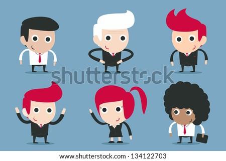 businessman cartoon - stock vector