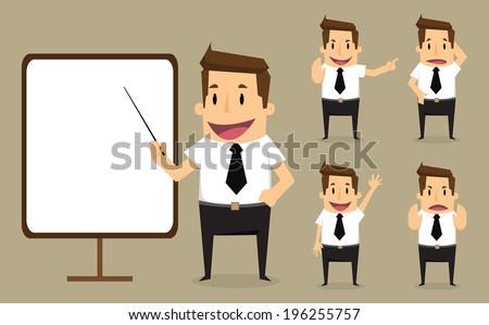 Businessman character - stock vector