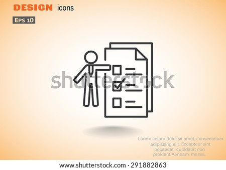 Businessman Checklist - stock vector