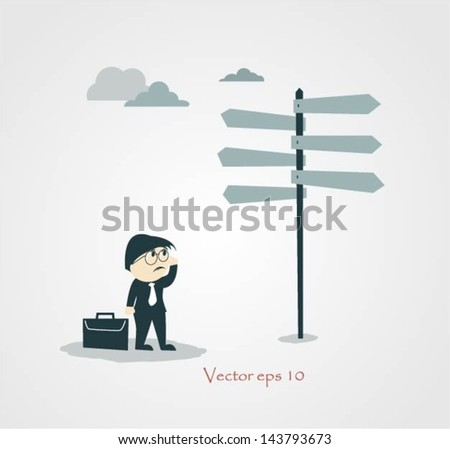businessman choice - stock vector