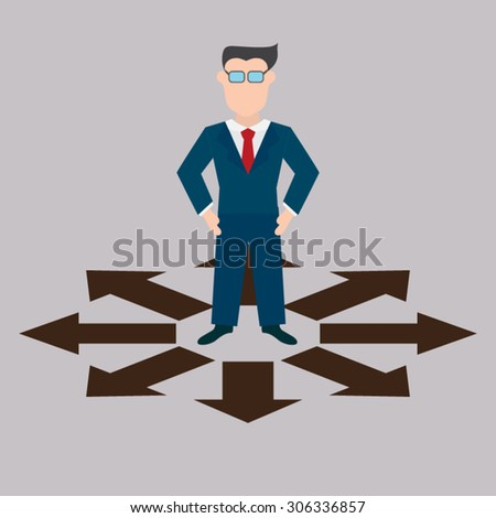 Businessman choice which is the best - stock vector