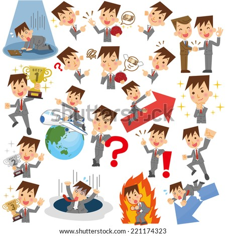 Businessman Collection - stock vector