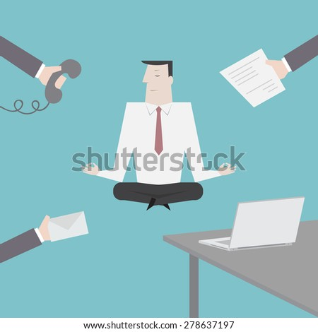 Businessman concentration - Vector - stock vector